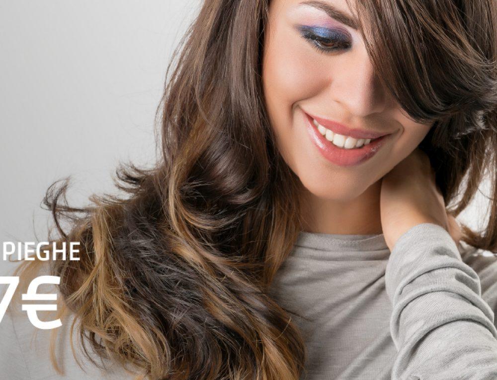 Promo capelli febbraio: 3 pieghe a soli 7€