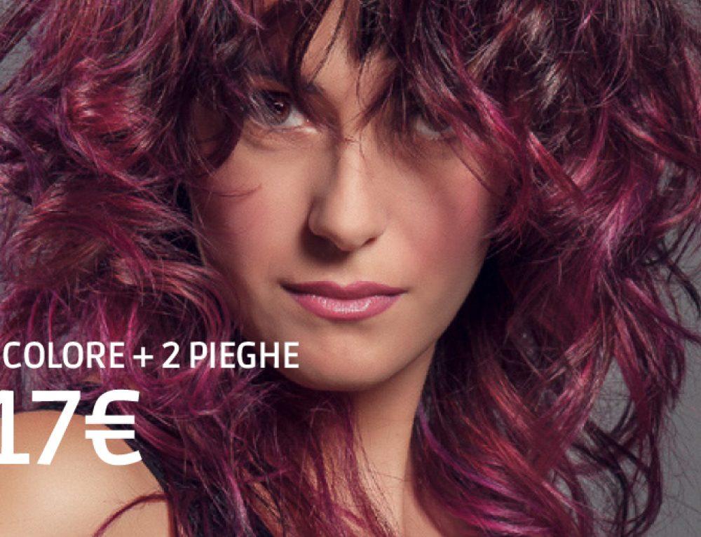 Promo capelli febbraio: 1 colore + 2 pieghe a soli 17€!