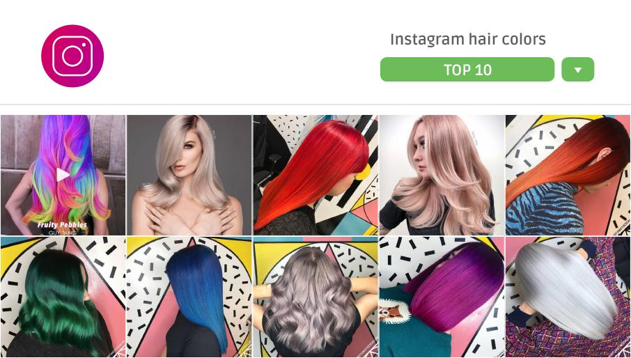 10 idee per colori extreme da Instagram