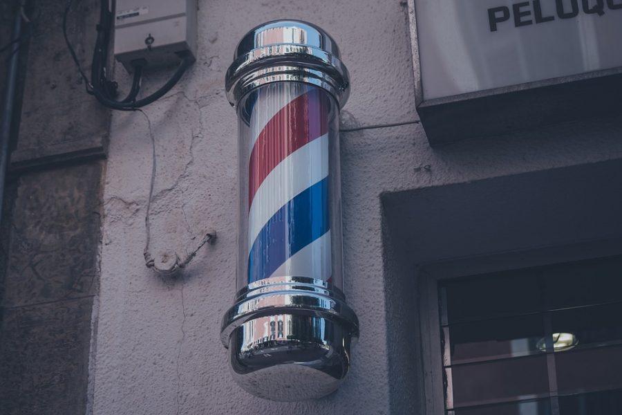 Insegna da barbiere USA